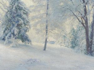 Art Prints of Tasseled Larch and Feathered Fir by Walter Launt Palmer