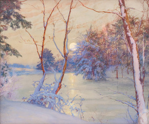 Art Prints of Winter Moonrise by Walter Launt Palmer