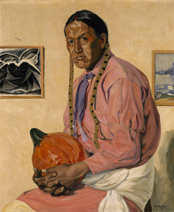 Art Prints of Portrait of a Man with a Pumpkin by Walter Ufer