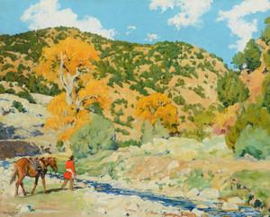 Art Prints of Crossing the Creek by Walter Ufer