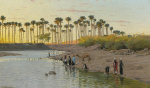Art Prints of By the Riverside by Wilhelm Kuhnert