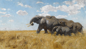 Art Prints of Elephants on the Move by Wilhelm Kuhnert