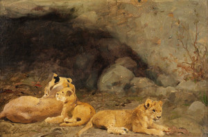 Art Prints of Lion Cubs by Wilhelm Kuhnert