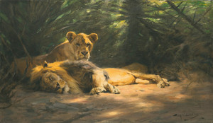 Art Prints of The Lions Den by Wilhelm Kuhnert