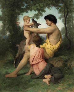 Art Prints of Idyll Ancient Family by William Bouguereau
