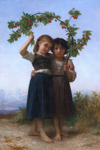 Art Prints of The Cherry Branch by William Bouguereau