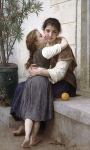 Art Prints of A Little Coaxing by William Bouguereau