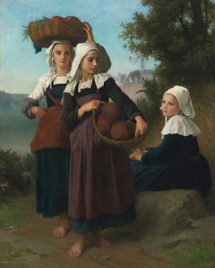 Art Prints of Girls Returning from Market by William Bouguereau