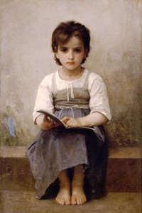 Art Prints of The Difficult Lesson by William Bouguereau