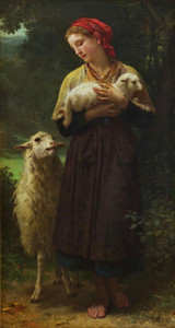 Art Prints of The Shepherdess by William Bouguereau