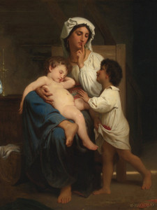 Art Prints of The Sleep by William Bouguereau