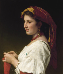 Art Prints of Tricoteuse by William Bouguereau