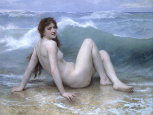 Art Prints of The Wave by William Bouguereau