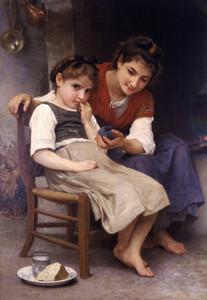 Art Prints of Little Sulky by William Bouguereau