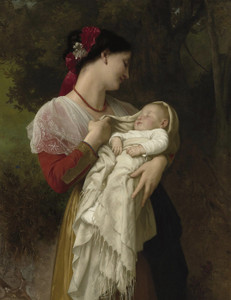 Art Prints of Maternal Admiration by William Bouguereau