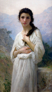 Art Prints of Meditation by William Bouguereau