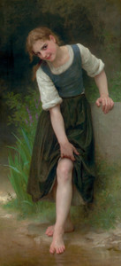 Art Prints of The Ford by William Bouguereau
