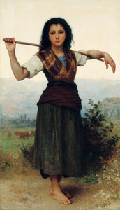 Art Prints of The Little Shepherdess by William Bouguereau