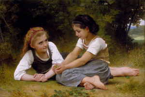 Art Prints of The Nut Gatherers by William Bouguereau