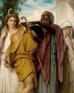Art Prints of Tobias Saying Farewell to His Father by William Bouguereau