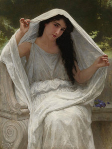 Art Prints of The Veil by William Bouguereau