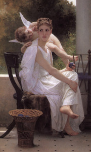 Art Prints of Work Interrupted by William Bouguereau