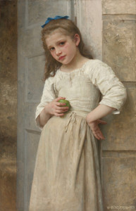 Art Prints of Yvonne on the Steps of the Door by William Bouguereau