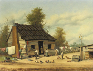 Art Prints of Cotton Pickers Cabin by William Aiken Walker