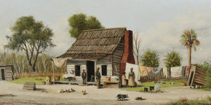 Art Prints of Rustic Cabin Scene by William Aiken Walker