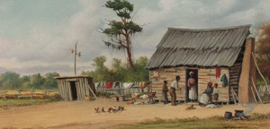 Art Prints of The Old Cabin by William Aiken Walker