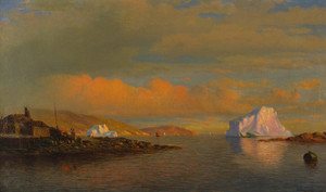 Art Prints of Arctic Sunset by William Bradford