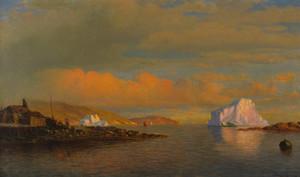 Art Prints of Arctic Sunset by William Bradford