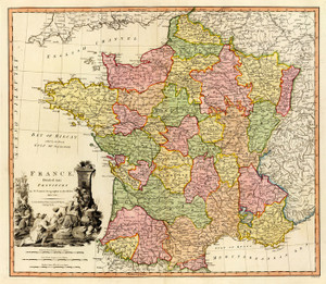 Art Prints of France, 1790 (2104015) by William Faden