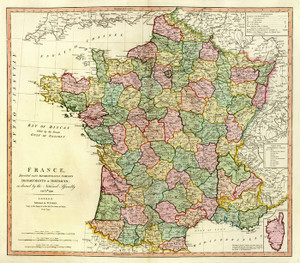 Art Prints of France, 1792 (2104016) by William Faden