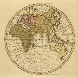 Art Prints of Eastern New World or Hemisphere, 1786 by William Faden