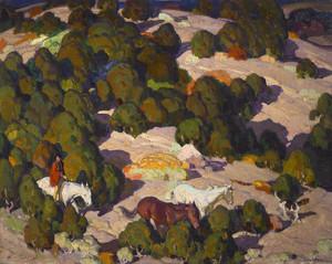 Art Prints of Sunset in the Foothills by William Herbert Dunton