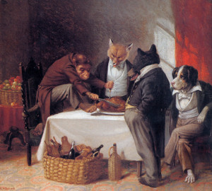 Art Prints of Carving the Turkey, 1881 by William Holbrook Beard