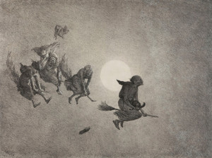 Art Prints of The Witch's Ride, 1870 by William Holbrook Beard