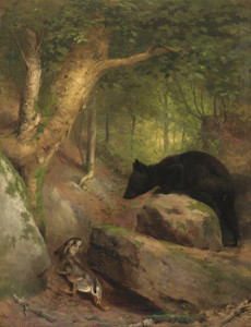 Art Prints of The Disputed Way by William Holbrook Beard