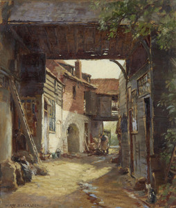 Art Prints of Wool Staplers Yard, St. Ives by William Kay Blacklock