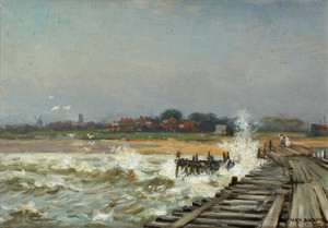 Art Prints of Walberswick from the Pier by William Kay Blacklock