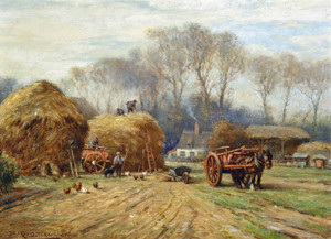 Art Prints of Bringing Home the Hay by William Kay Blacklock