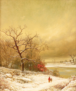 Art Prints of A Walk in Winter by William Mason Brown