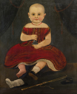 Art Prints of Portrait of a Child in Red by William Matthew Prior