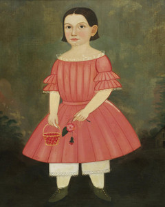 Art Prints of Portrait of a Young Girl in a Pink Dress by William Matthew Prior