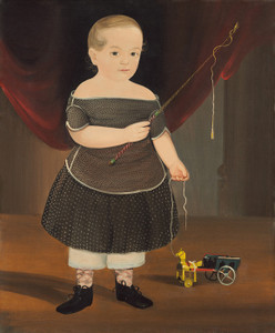 Art Prints of Boy with Toy Horse and Wagon by William Matthew Prior