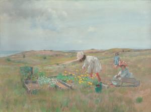 Art Prints of Gathering Flowers, Shinnecock Long Island by William Merritt Chase