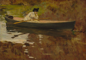 Art Prints of Mrs. Chase in Prospect Park by William Merritt Chase