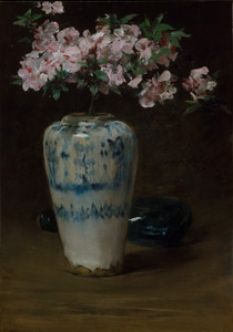 Art Prints of Pink Azalea in a Chinese Vase by William Merritt Chase