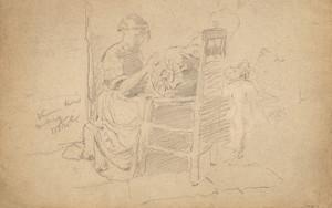 Art Prints of Venetian Lace Making by William Merritt Chase